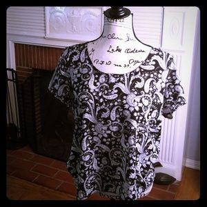 Express Paisley Flowing Blouse